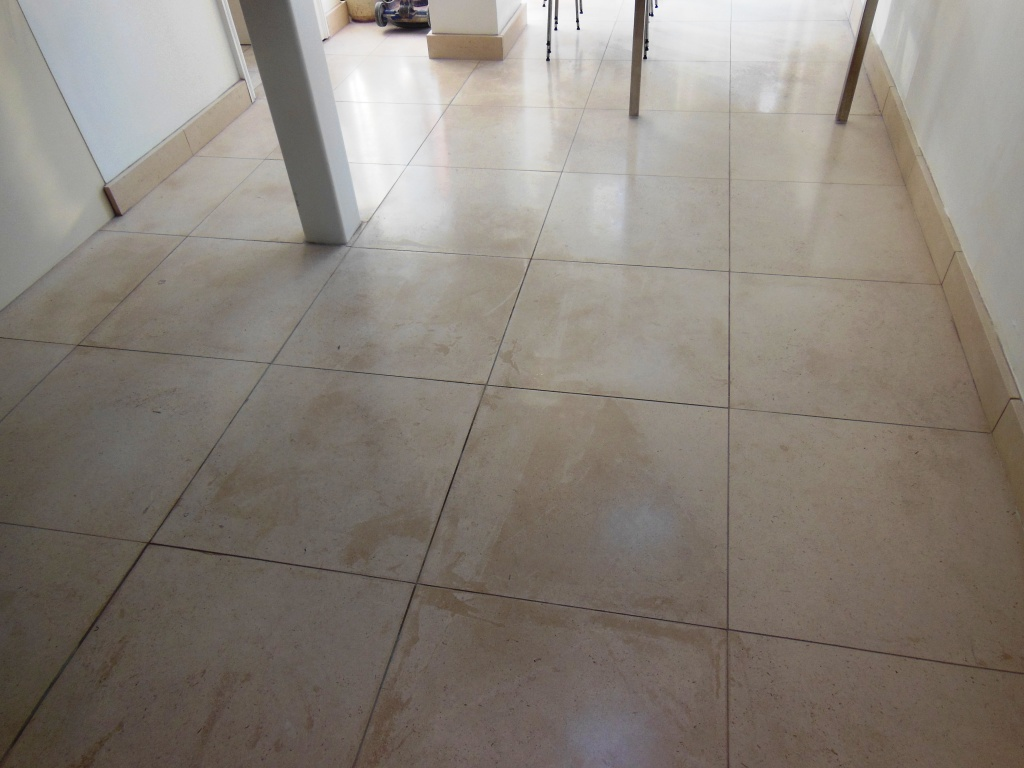Limestone Tiled Floor in Wimbledon