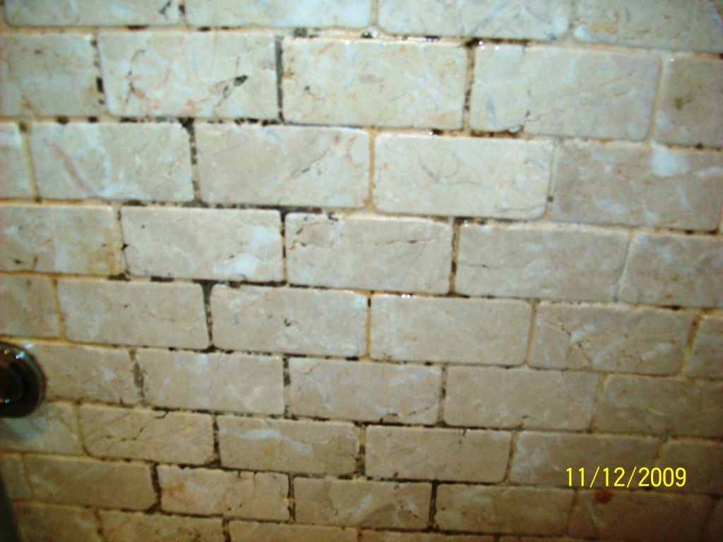 Travertine Wall Tiles Before Cleaning