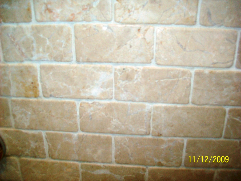 Travertine Wall Tiles After Cleaning
