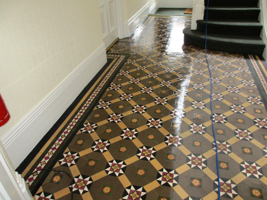 Victorian Floor Cleaned and partly Sealed in Richmond