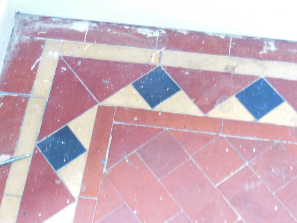 Victorian Tiled Floor Before Restoration