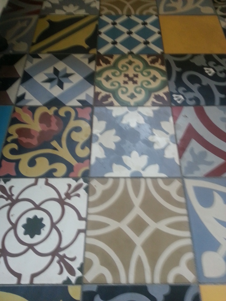 Encaustic Floor Tiles Before Cleaning