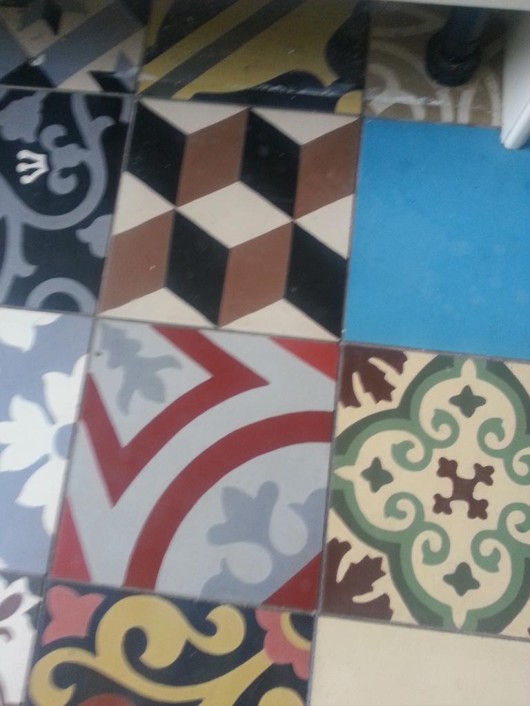 Encaustic Floor Tiles Before Cleaning