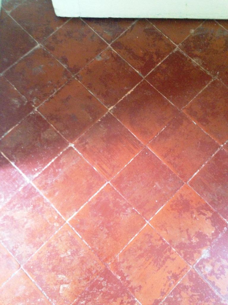 Quarry Tile Kitchen Floor Before