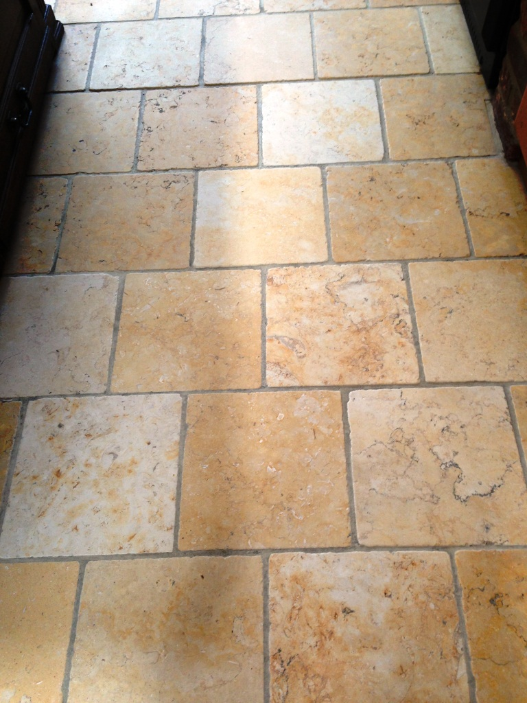 Marble Kitchen Floor Tile After