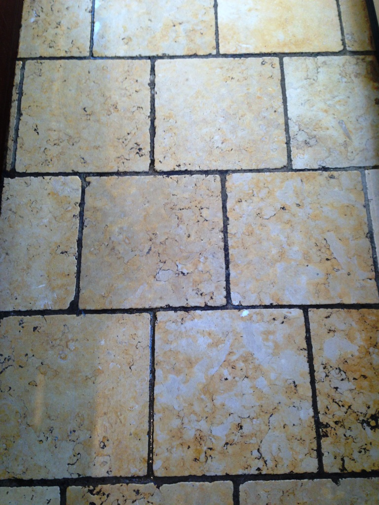 Marble Kitchen Floor Tile Before