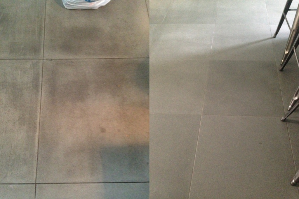 Sandstone Tiles Before and After