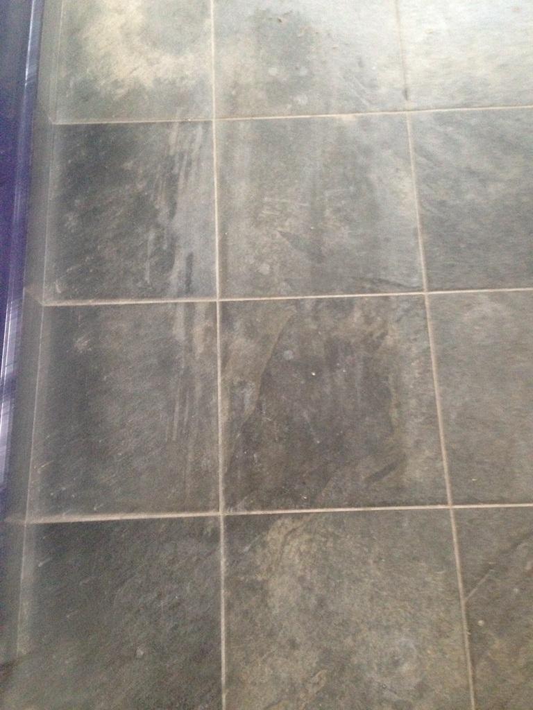 Balham Slate Floor Before