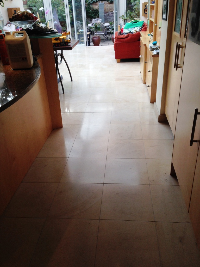 Limestone Tiled Floor After