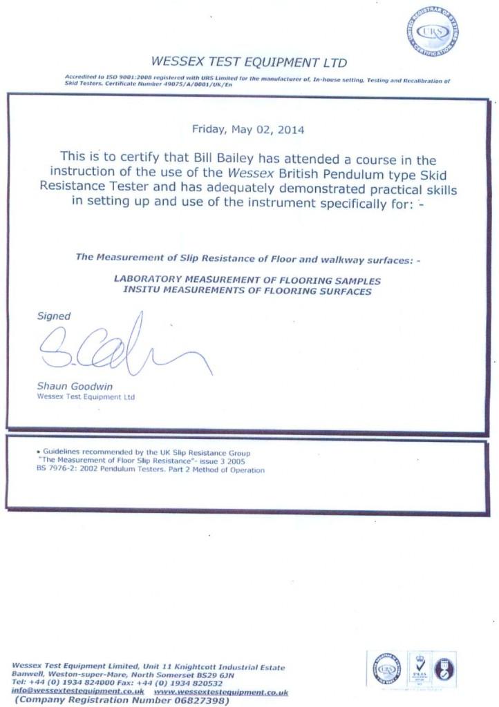 Pendulim Testing Training Course Certificate