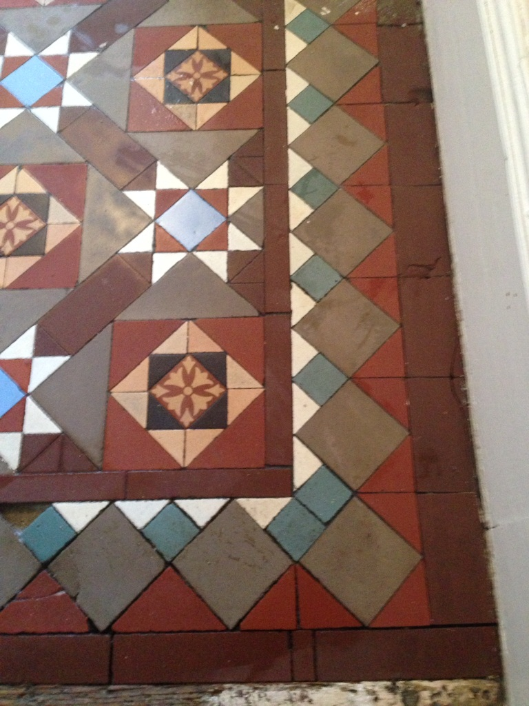 Victorian Tiled Floor Balham After Cleaning