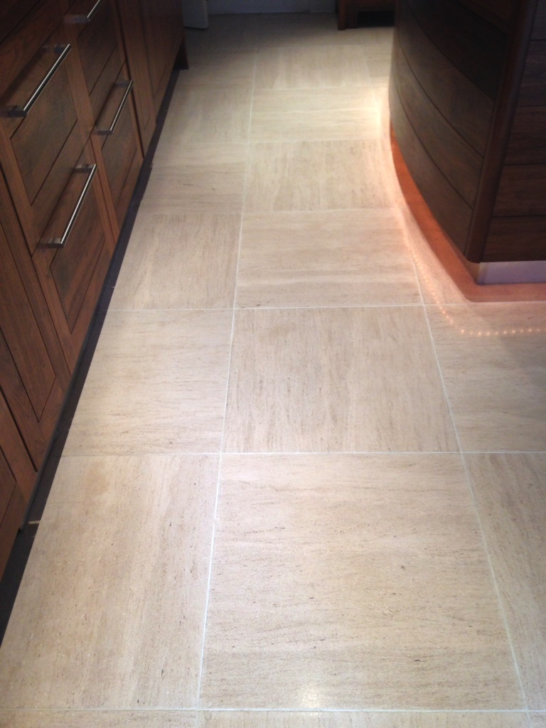 Limestone tiled floor Westminster After Cleaning