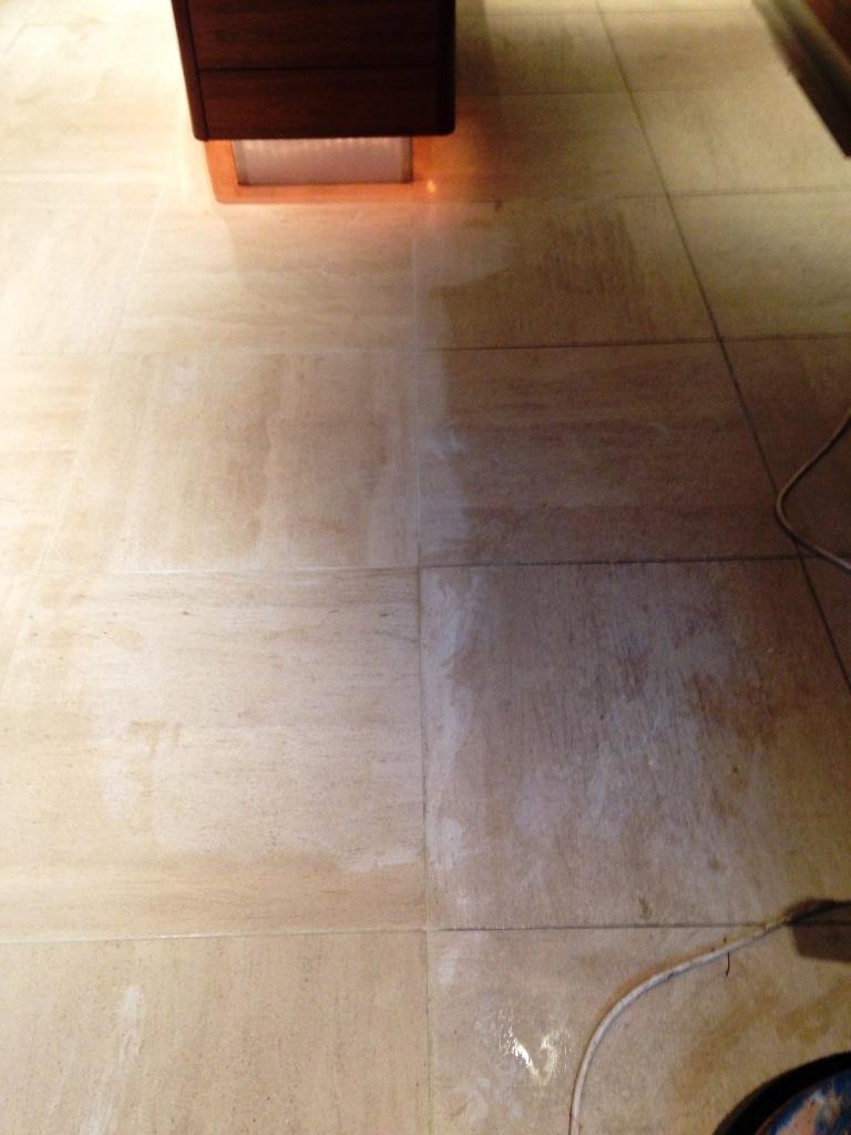 Limestone tiled floor Westminster Initial Clean