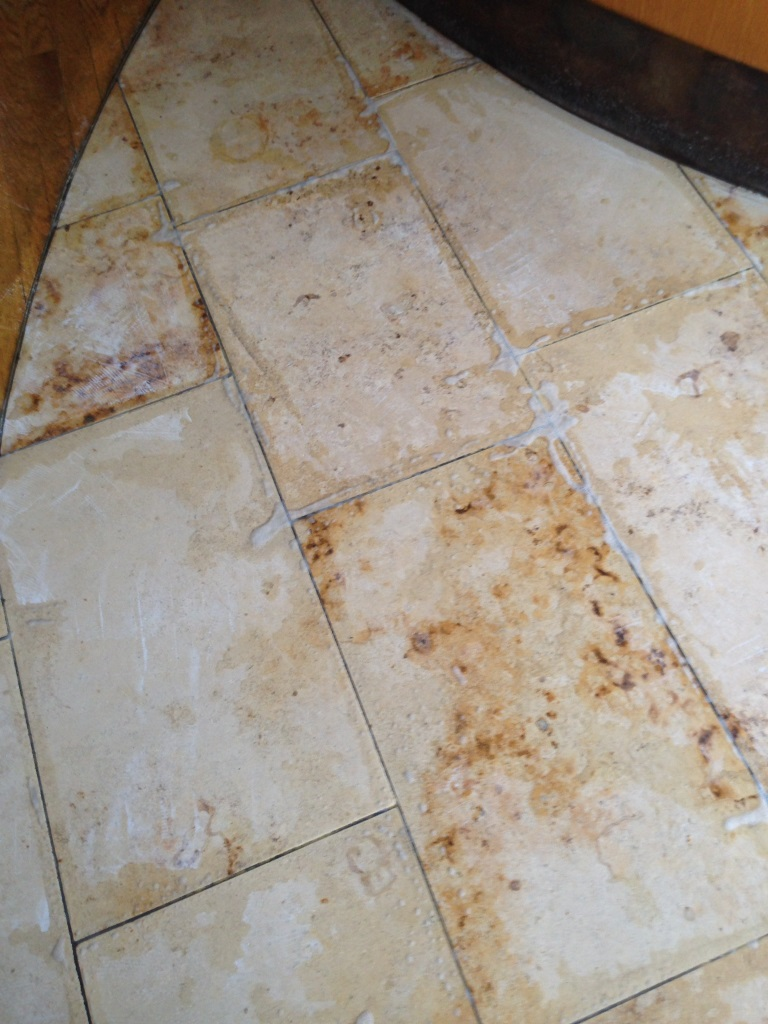 Marble Tiles Indian Restaurant South Croydon During Cleaning
