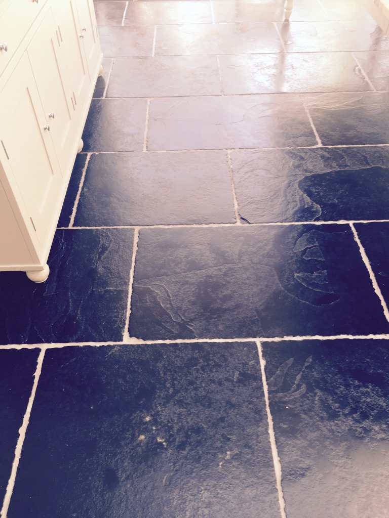 Black Limestone Grinded and sealed in Wimbledon