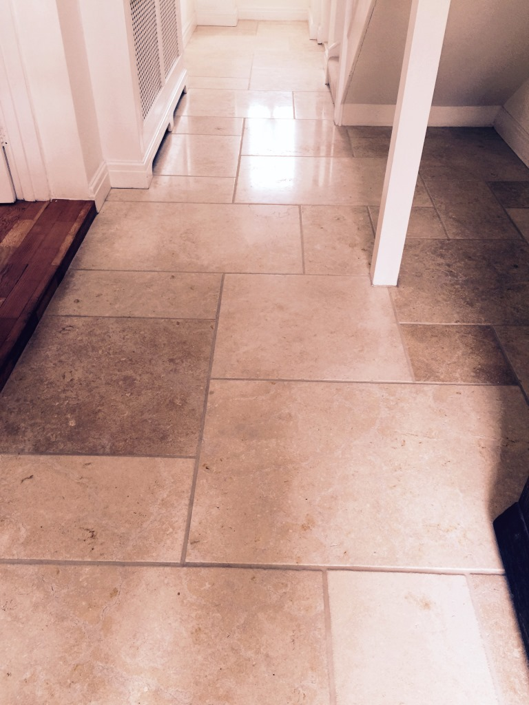 Polished Limestone After Cleaning in Leatherhead