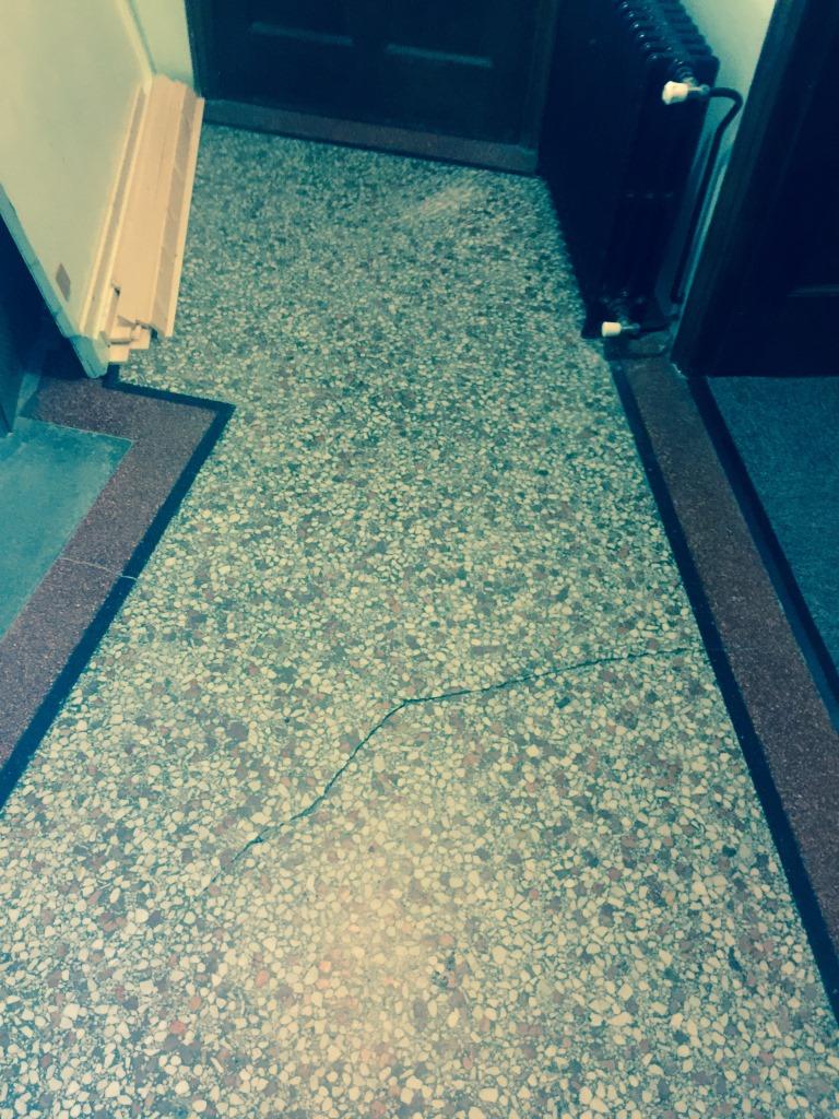 Terrazzo Flooring Redhill Church During Crack Repair