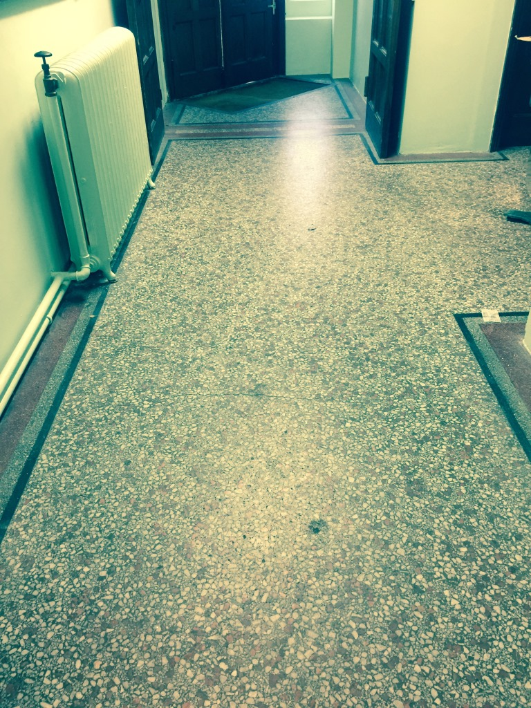 Terrazzo Flooring Redhill Church Before Restoration