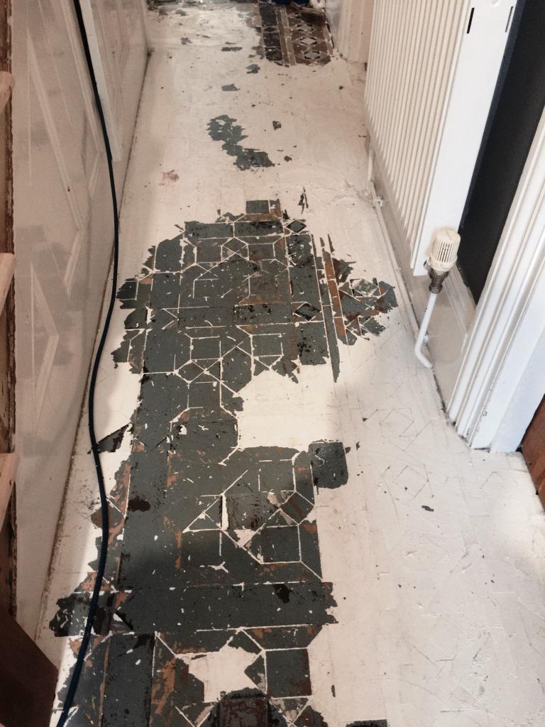 Victorian Floor Restoration Putney Before Paint Removal
