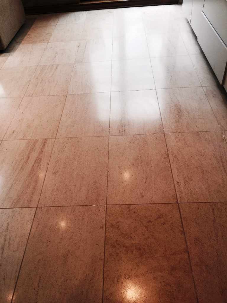Limestone Floor After Burnishing Wandsworth