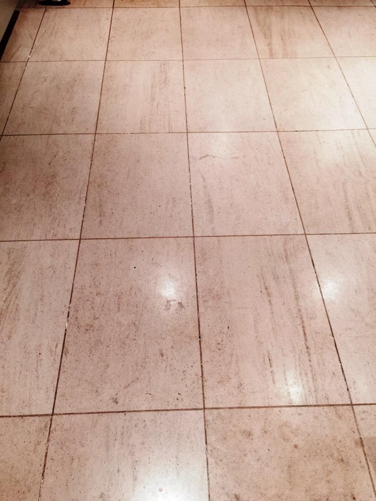 Limestone Floor Before Cleaning Wandsworth