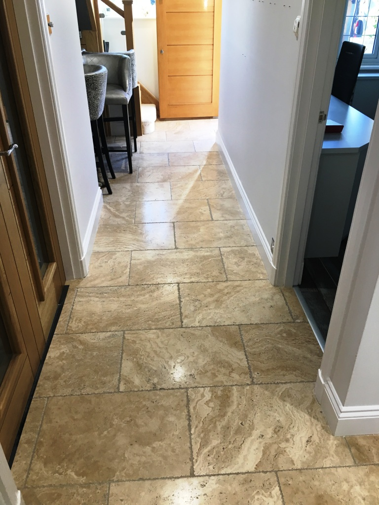 Tumbled Travertine Floor Horley Before Polishing