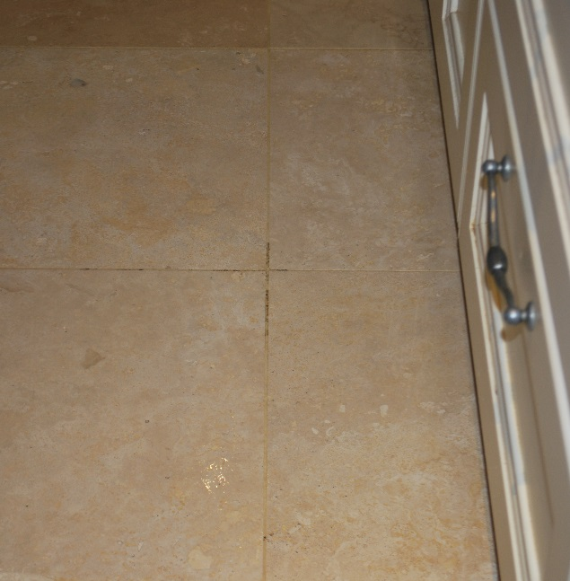 Pitted Travertine Floor Before Grout Cleaning Limpsfield Chart