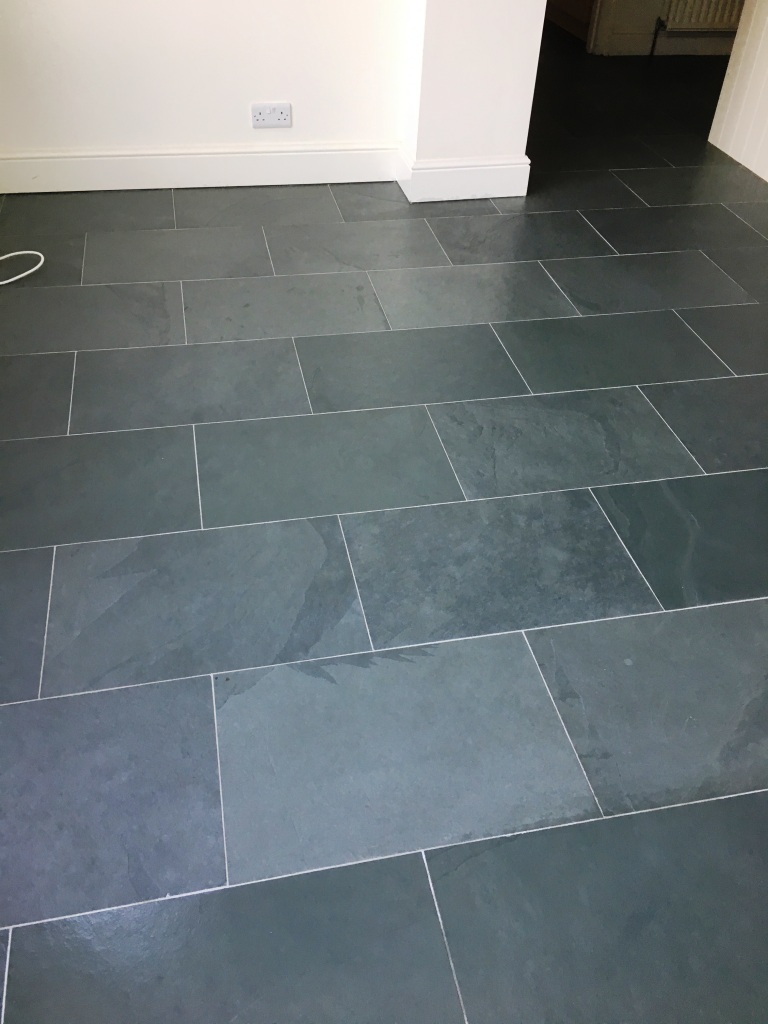 Slate Tiled Floor Oxted After Renovation