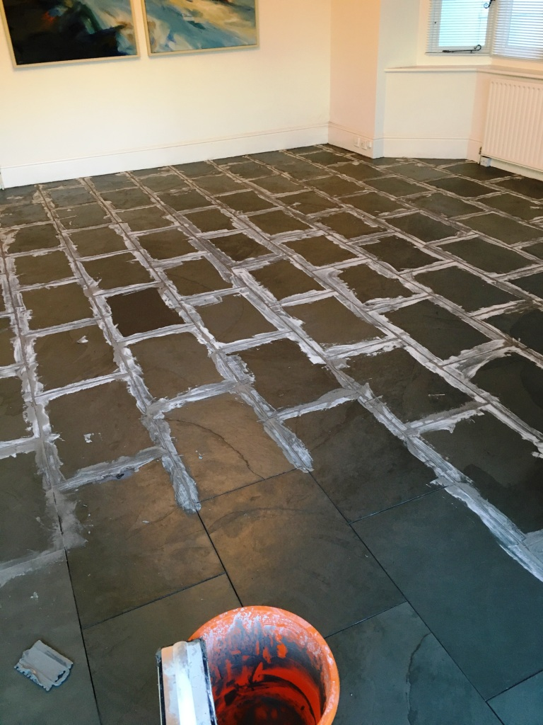 Slate Tiled Floor Oxted Replacing Grout