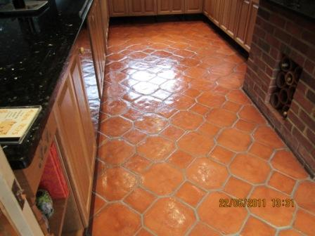 Terracotta Floor After Sealing
