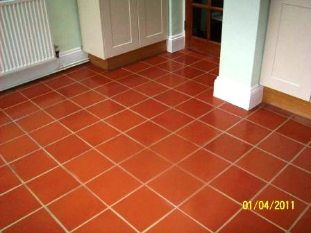 Terracotta floor after restoration
