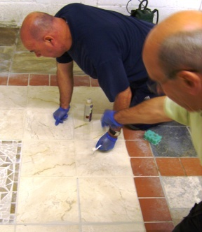 Tile Doctor Bill Bailey in Action
