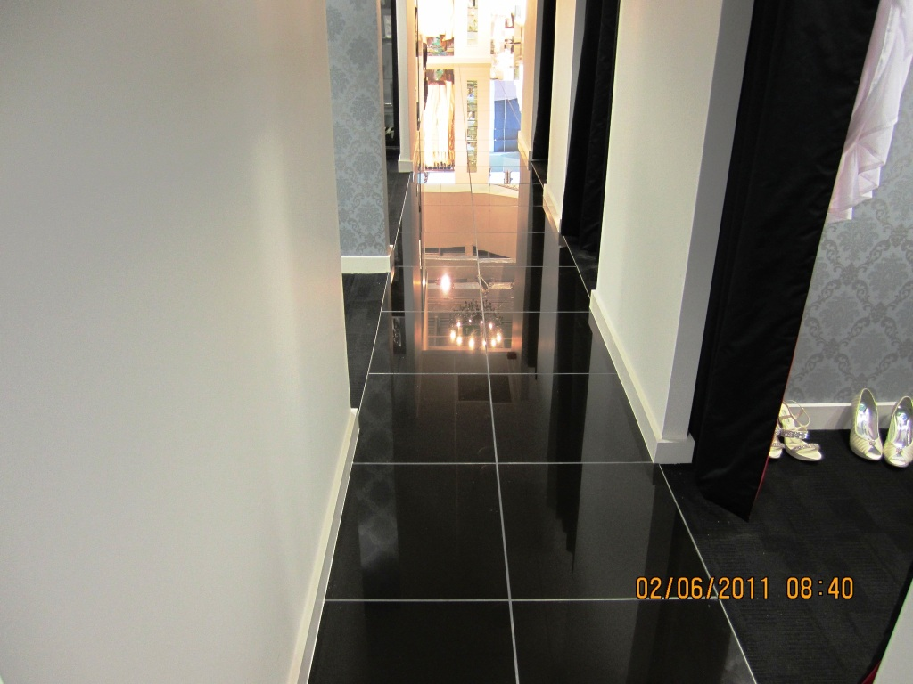 Putting the shine back on black porcelain floor tiles east black porcelain floor photo dailygadgetfo Gallery