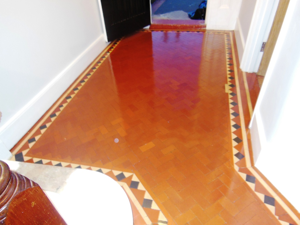 Victorian Tiled Floor After Restoration