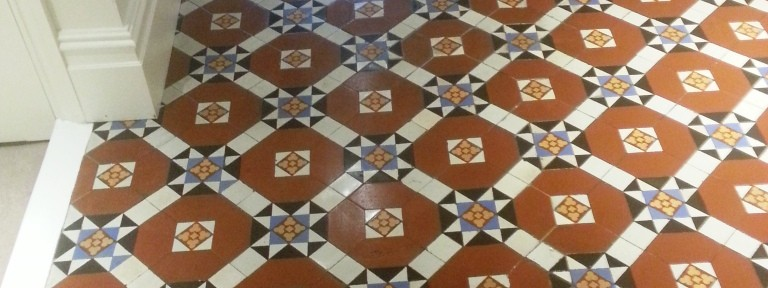 Victorian Tiled Floor Restoration in Fulham