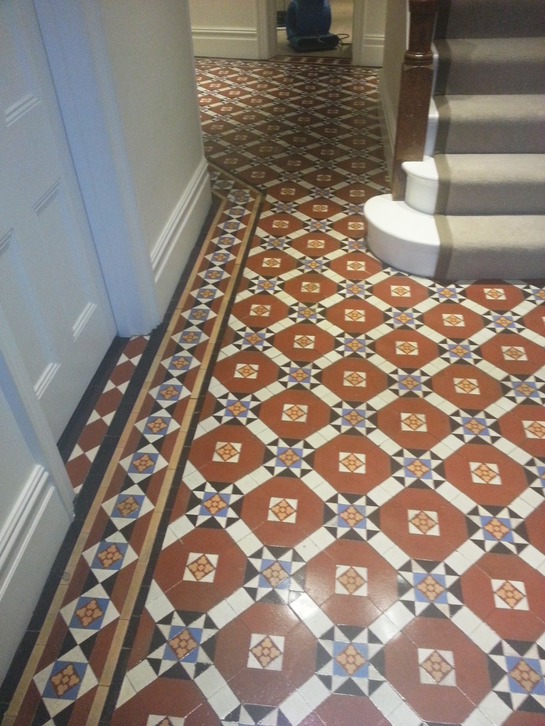 Victorian Tiled Floor Restoration In Fulham East Surrey