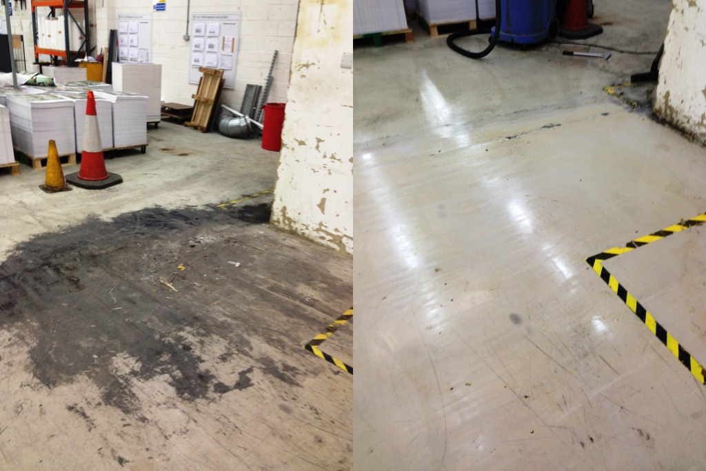 Factory Floor Before and After