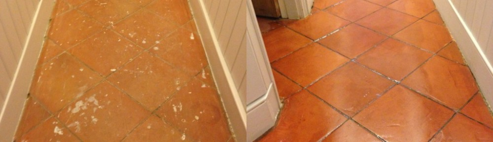 Terracotta Tiled Floor Sealing