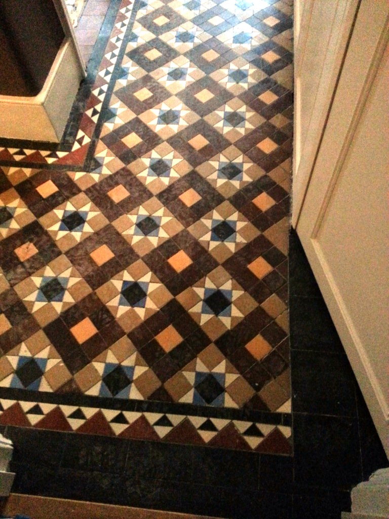 Sealing victorian floor east surrey tile doctor victorian floor cleaning before dailygadgetfo Image collections