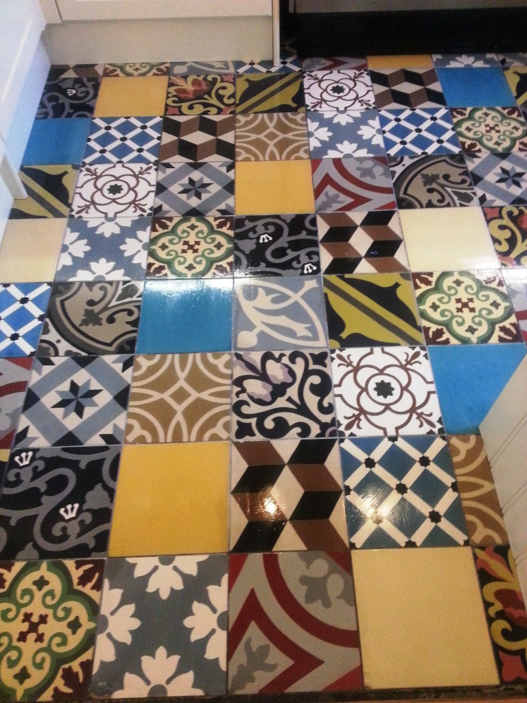 Encaustic Floor Tiles After Cleaning