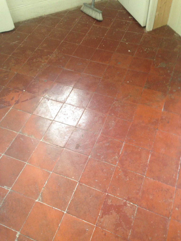 Quarry tiled hallway floor cleaned and sealed in brixton east quarry tile kitchen floor before dailygadgetfo Images