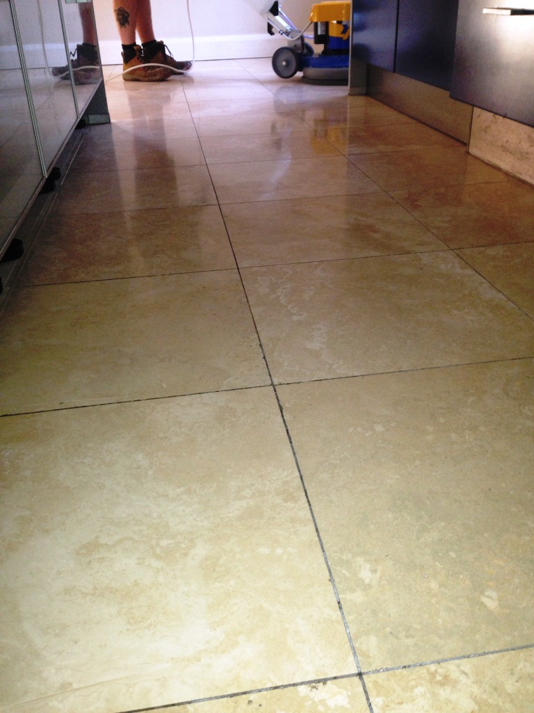 Travertine Floor Mid-Clean