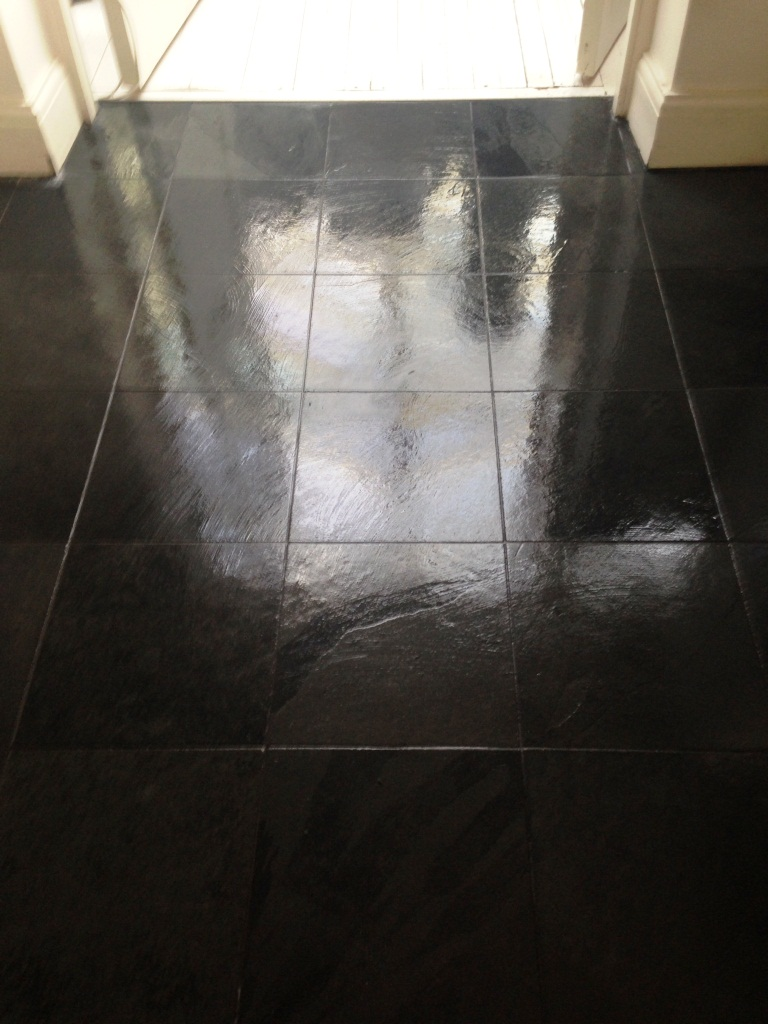 Balham Slate Floor After Cleaning