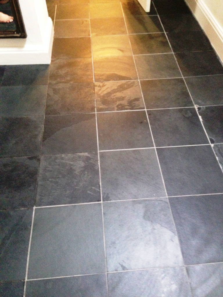 Balham Slate Floor After Sealing