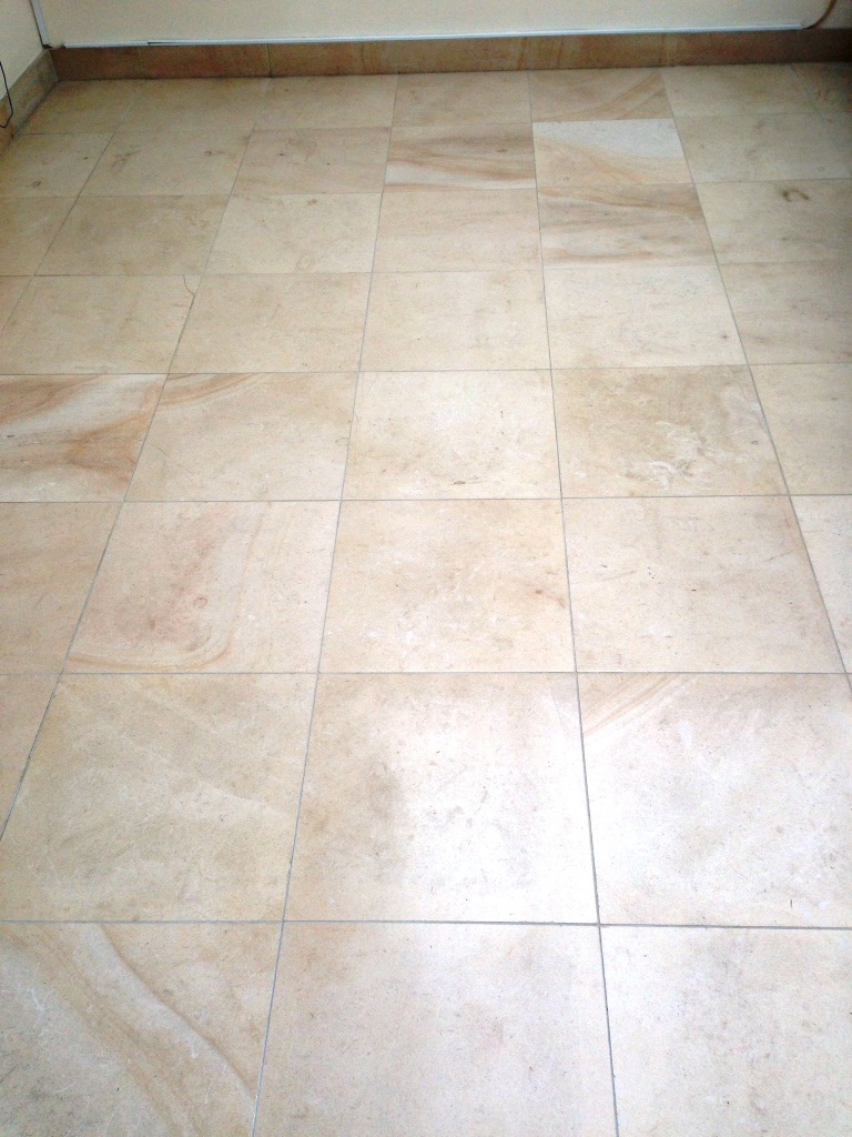 Limestone Tiled Floor During