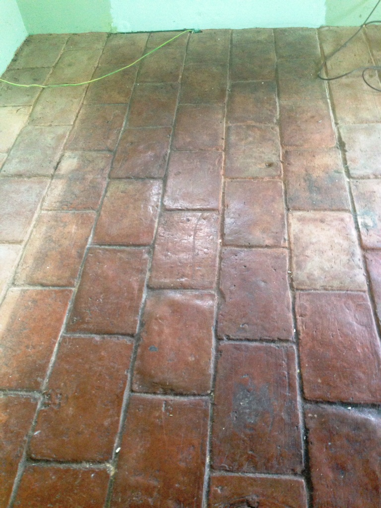 Quarry tiled floor cleaned and sealed in ashtead east surrey tile quarry tile cleaning ashtead before dailygadgetfo Choice Image
