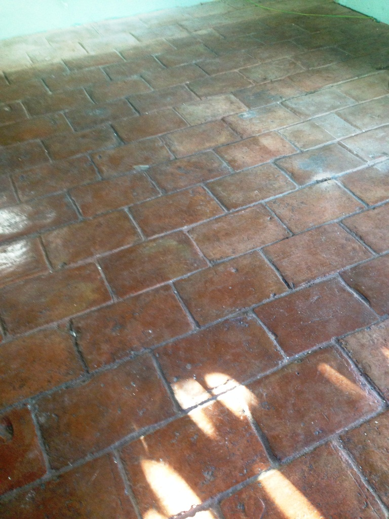 Quarry Tile Cleaning Ashtead before2