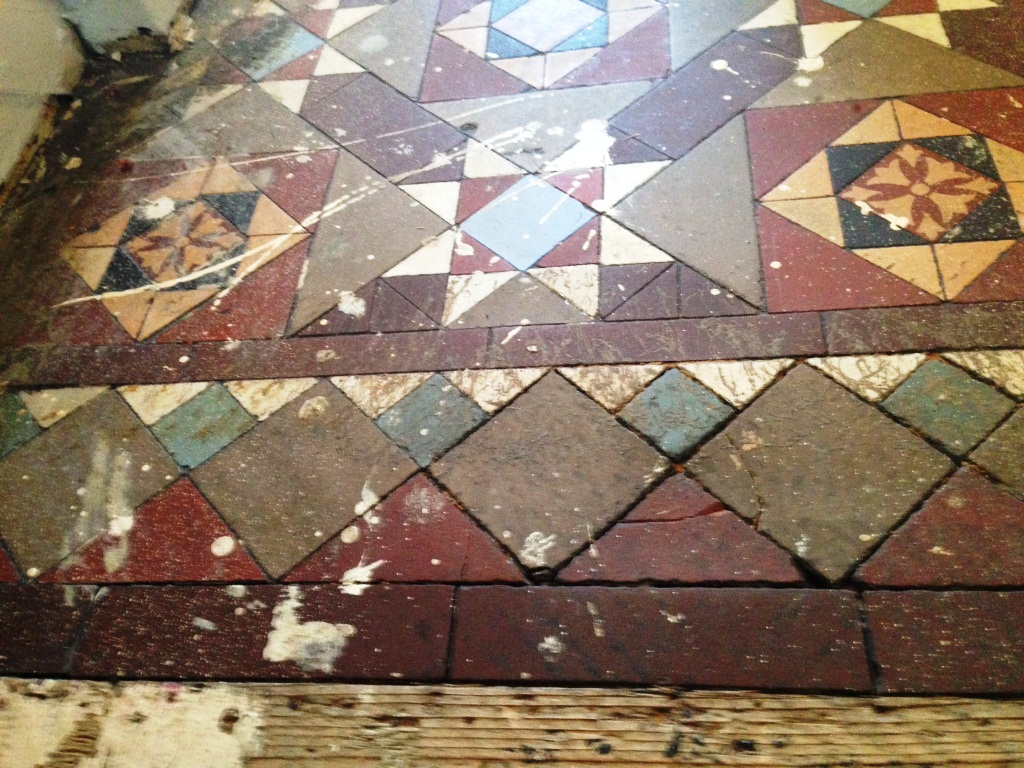 Victorian tiled hallway restoration in balham east for Victorian floors