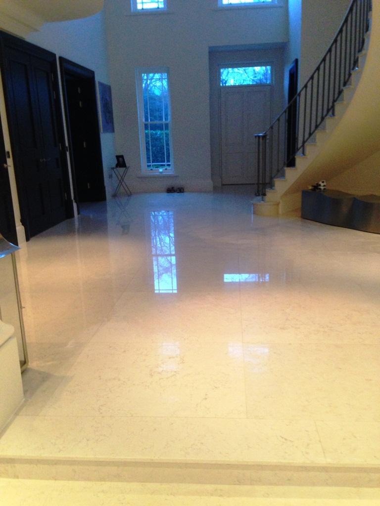 Marble Tiled Floor Oxshott