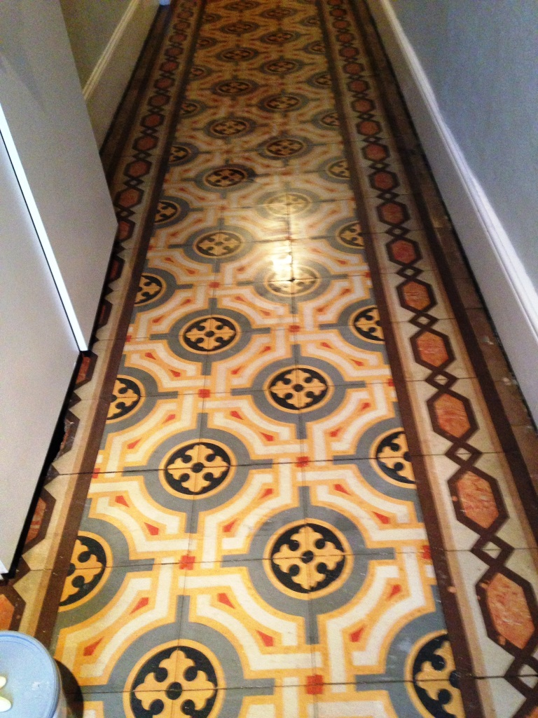 Old Encaustic Floor Fulham After Cleaning 3